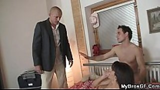 Boyfriend finds his hot housewife drilled