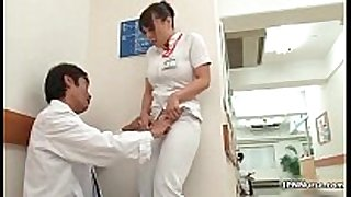 Horny japanese nurse receives enticed in the