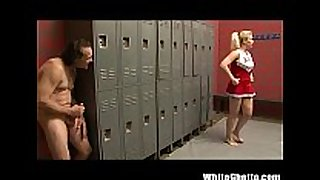 Cheerleader receives toes sucked and then screwed