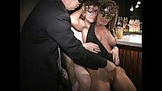 Big teat masked milf carla eats out bawdy cleft and ...