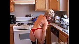 Very hot grandma has a soaking soaked cunt