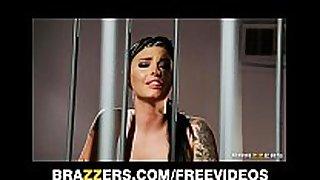 Busty prison inmate eva angelina receives gang-bang...