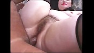 Chubby brunette hair can't live without anal sex