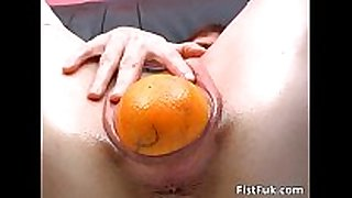 Horny doxy with gaping muff stuffs
