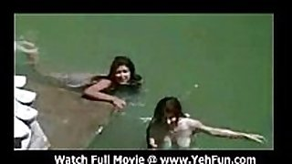Bollywood actress bathing stripped