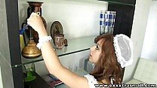 Exxxtrasmall small housemaid hairless love tunnel hard...