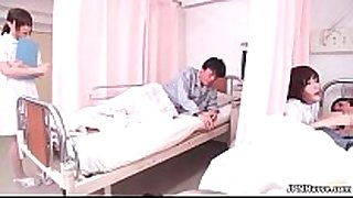 Horny japanese nurse engulfing off