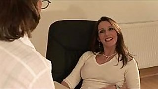 British housewife sonia receives a ejaculation
