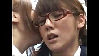 Japanese lesbo in public