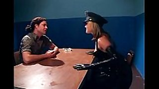 Naughty female cop fucking in latex underware