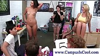 Teen beauties receive cum on their face in hot game