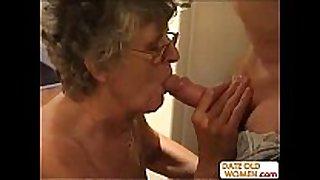 Loveley grandma shows her flowers