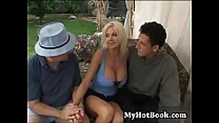 Lori enjoyment is a large boobed vixen who has a com