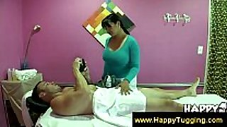 Busty masseuse acquire paid for services