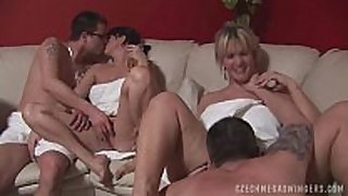 Czech amateurs at massive swingers party