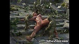 3d elven princess team-fucked!