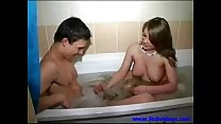 Step brother and sister take a washroom 00