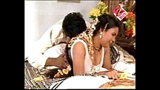 Telugu house slutwife 1st night hawt daybed room scen...