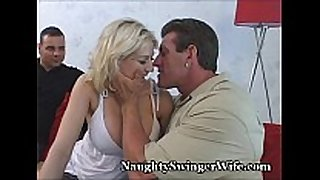 Busty blond group-fucked by buddy
