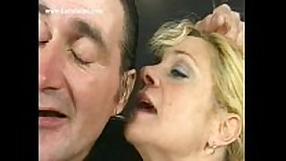 Blond milf serf with bit love melons bows over and g...