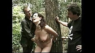Hot thrall fastened to a tree receives alot of clamps re...