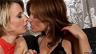 Valentine rush lesbo scene with belt on sex toy