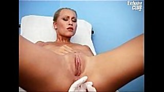 Valerie muff gaping by old gyno doctor with sp...