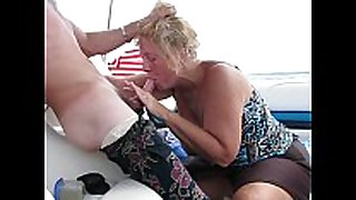 Boat wench giving blow job