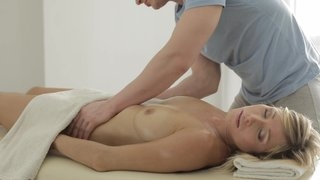 Hot massage with doggy style sex and blowjob after