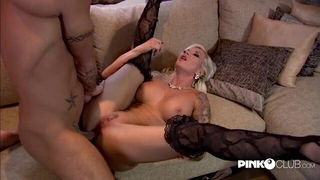 Horny Czech damsel in stockings gets anal she's been craving for