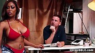 Booty black hottie fucks in the bikini shop - mor...