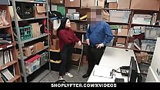 Shoplyfter - legal age teenager gets humiliated by lp officer...