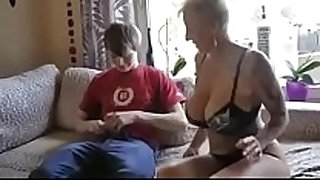 Busty step mamma fucked by son's friend