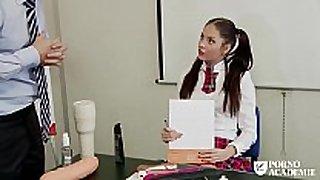 Porno academie - romanian brunette hair hair school BBC doxy ...