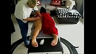 Hidden massage playing with clients snatch - web camera...