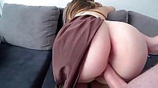 Princess leia with big juicy ass fucks with a dude