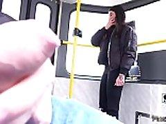 Dude caught jerking off in public train